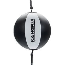 Double End Muay Thai Boxing Punching Bag Speed Ball Training Fitness Black New