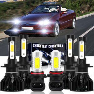 For Mercedes-Benz CLK320 CLK500 2004-2005 6x Front LED Headlight Fog Light Bulbs
