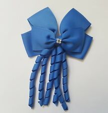 Bow hair Clips pin Diamond alligator Diamante Clip with long tails