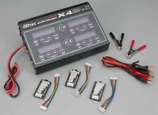 Hitec X4-80 4-Port DC Battery Multi-Charger LiPo Li-Ion LiFe NiCD NiMH - FREE SH