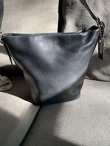 Coach Legacy Soho 9186 Vintage Black Leather Adjustable Shoulder Bucket Purse