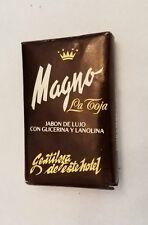 1970s/1980s Hotel Travel Spain  ~MAGNO JABON BLACK GLYCERIN SOAP~LA TOJA~VINTAGE