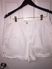 Covington Womens Shorts White Cuff Size 14