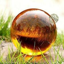 Amber Asian Rare Natural Magic Crystal Healing Ball Sphere 40mm + Stand 898