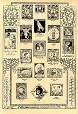 Ein neuer Sammelsport Wohltätigkeitsmarken Preisauschreiben von 1908