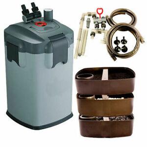 Aquarium External Canister Filter Fish Tank Water Pump Sponge Media UV & non-UV