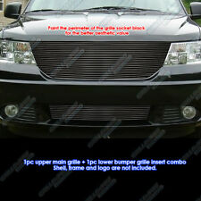 Fits 2009-2010 Dodge Journey R/T & SE/SXT Black Billet Grille Grill Insert Combo