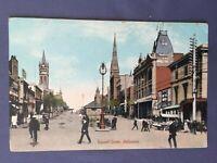 ±1910 Postcard MELBOURNE RUSSELL STREET AUSTRALIA