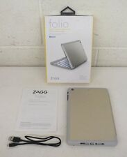 Zagg Folio Bluetooth Backlit Hinged Keyboard Folio for iPad Mini Fast Shipping