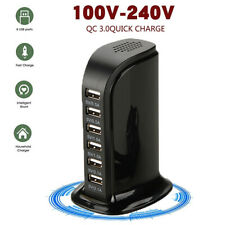 Multiple 6 Port Usb Travel Wall Charger Power Adapter Fast Charging Station Plug