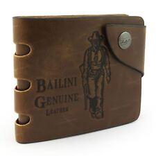 portafoglio ESCLUSIVO COWBOY in pelle di qualità porta carte di credito marrone