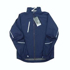 "Zero Restriction Men Small 45"" Power Torque Full Zip Windbreaker Jacket Navy"