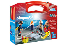 BNIB Playmobil 5651 Fire Rescue Carry Case set
