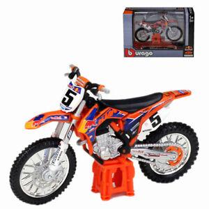 1:18 Bburago KTM 450 Rally Dakar NO.1 SXF Red Bull Motorcycle Dirt Model Toy
