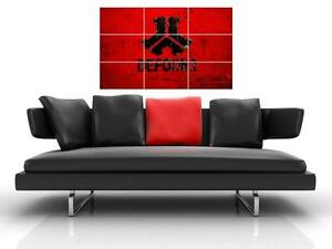 """DEFQON.1 BORDERLESS MOSAIC TILE WALL POSTER 35""""x 25"""" FESTIVAL Q DANCE HARDSTYLE"""