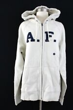 Abercrombie & Fitch Men's Heavyweight Applique Zip-Up Hoodie HD3 Cream Large