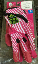 Reebok Nfl A Crucial Catch Breast Cancer Awareness Pink Gloves Size Sm New