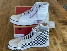 Vans SK8-Hi Cap LX Reissue Deconstructed White Checkerboard Sz 10.5 VN0A3WM127I