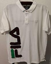 Fila White Logo Polo Shirt (Men's XL)