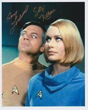 GARY LOCKWOOD & SALLY KELLERMAN signed autographed STAR TREK photo