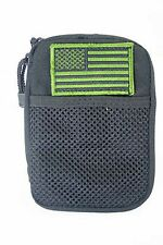 Condor Pocket Pouch with Removable US Flag Patch Black MOLLE PALS MA16-002