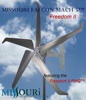 12/24 Volt 2000 Watt Missouri Falcon Mach 5 80.5 Inch Freedom ll Wind Turbine