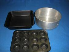 CAKE BAKING TINS X 3 WILLOW ALUMINIUM