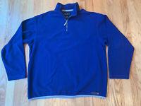 Eddie Bauer Mens Pullover 1/4 Zip Fleece Sweatshirt Blue Long Sleeve Size Medium