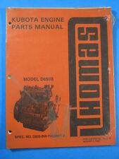 THOMAS KUBOTA ENGINE D850B 1989 SKID STEER LOADER PARTS CATALOG