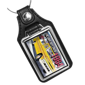 1964 GMC Light Duty Pick Up Truck Yellow Design Key Ring