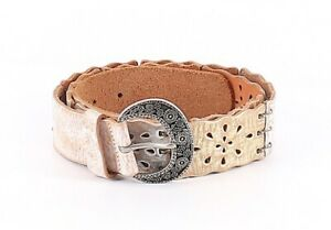 Womens Fossil White/Gold & Silver Buckle Belt Large