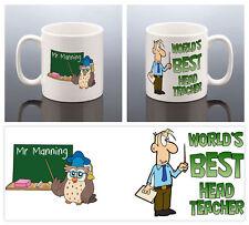 BEST HEAD TEACHER MUG Thank You Teacher Cup School End Present Fun Teachers Gift