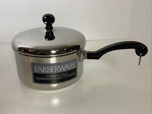 Farberware Stainless Steel Impact Bonded Bottom 1 quart Saucepan & Lid    NEW