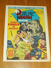 FUTURE TENSE AND VALOUR #26 MARVEL BRITISH WEEKLY 29 APRIL 1981 STAR TREK CONAN