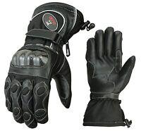 ISLERO thermal Leather Motor bike Motorcycle Gloves Carbon Fiber Knuckle Racing