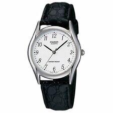 Casio Men's Dressy Black Leather Watch MTP1094E-7B
