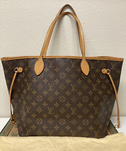 ❤ Monogram Neverfull MM Louis Vuitton ❤ Shoulder Tote 100% Auth LV Handbag