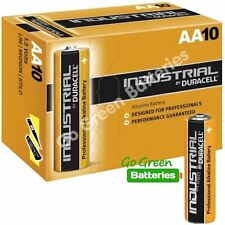 10 x Duracell AA Industrial Alkaline Batteries, 1.5V LR6 MN1500 Replaces Procell