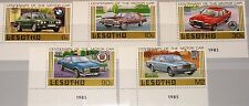 Lesotho 1985 519-23 475-79 Luxury car automobiles voitures BMW Ford Mercedes MNH