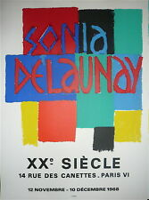 Delaunay Sonia affiche originale lithographie 1968 art abstrait abstraction
