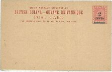 BOATS: POSTAL STATIONERY: BRITISH GUIANA - H&G #6a