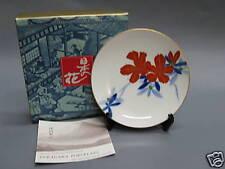 Fukagawa  Porcelain Decorative Plate w Stand - Azalea