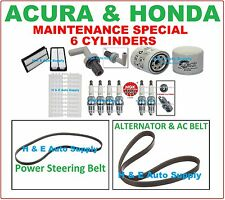 00-02 ACCORD V6 01-03 CL 99-03 TL TUNE UP KITS: BELT PLUG AIR CABIN & OIL FILTER