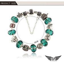 "Latest design European style Charm Bead bracelet Green/Silver 2017 ""Love"""