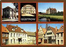 Güstrow Meckenburg-Vorpommern DDR Mehrbild-AK ua. Torhaus, Schloss, Heimat-Mus.