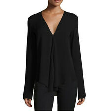 Women Casual V Neck Long Sleeve Chiffon Blouse T-Shirt Lady Top Shirt Plus Size