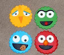 12 X Edible Sesame Street Cupcake Fondant Toppers /Decorations For Birthdays