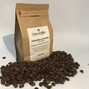 COLOMBIAN SUPREMO Hand Roasted 100% Arabica Coffee Beans/Grounds Q grade 82