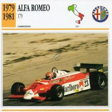 1979-1981 ALFA ROMEO 179 Racing Classic Car Photo/Info Maxi Card