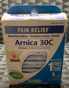 Boiron PAIN RELIEF Arnica 30C-  3 TUBES .New Sealed Box. EXP 11/2022 Free Ship!